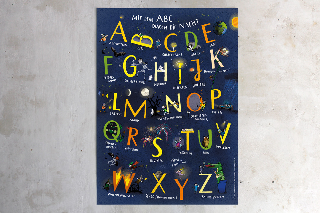 kinder abc poster