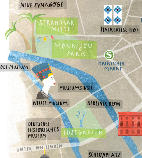 illustrated map Berlin