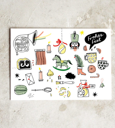illustrierte Postkarte