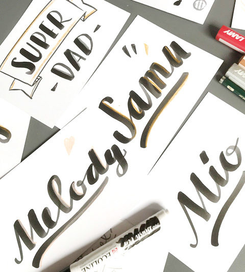 Customizing Lettering