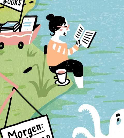 illustration Insel