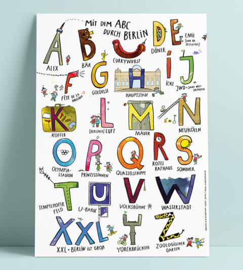 kinder abc poster berlin playful abc education poster