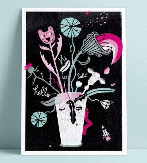 flower fine art print postcard